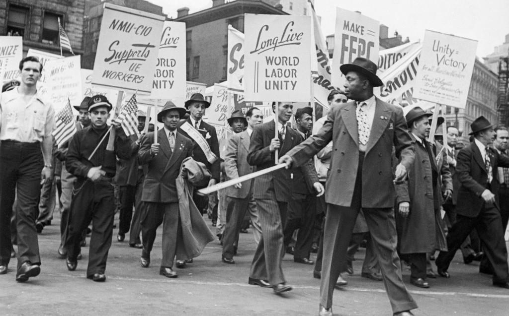 1945_strange_holiday_017 labour union protest 1946
